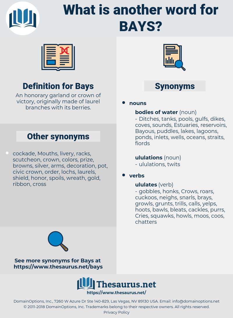 Bays, synonym Bays, another word for Bays, words like Bays, thesaurus Bays