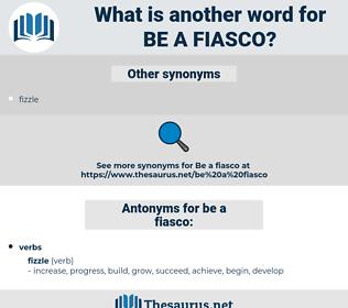 be a fiasco, synonym be a fiasco, another word for be a fiasco, words like be a fiasco, thesaurus be a fiasco