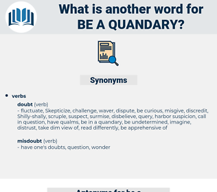 be a quandary, synonym be a quandary, another word for be a quandary, words like be a quandary, thesaurus be a quandary