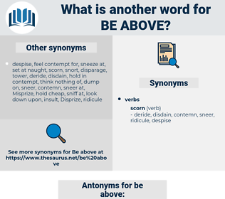be above, synonym be above, another word for be above, words like be above, thesaurus be above