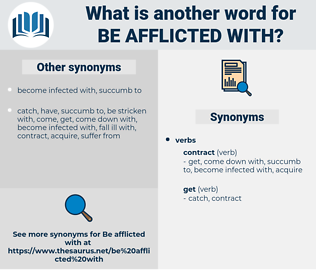 be afflicted with, synonym be afflicted with, another word for be afflicted with, words like be afflicted with, thesaurus be afflicted with