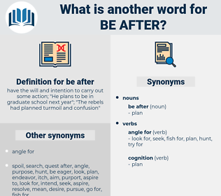 be after, synonym be after, another word for be after, words like be after, thesaurus be after