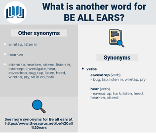 be all ears, synonym be all ears, another word for be all ears, words like be all ears, thesaurus be all ears