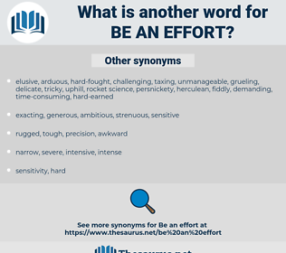 be an effort, synonym be an effort, another word for be an effort, words like be an effort, thesaurus be an effort