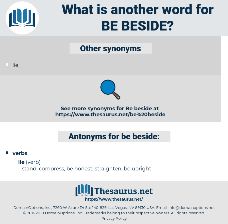 be beside, synonym be beside, another word for be beside, words like be beside, thesaurus be beside