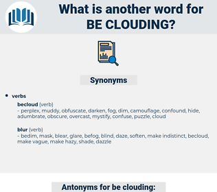 be-clouding, synonym be-clouding, another word for be-clouding, words like be-clouding, thesaurus be-clouding