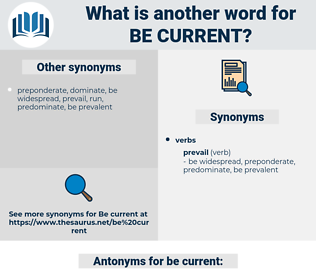 be current, synonym be current, another word for be current, words like be current, thesaurus be current