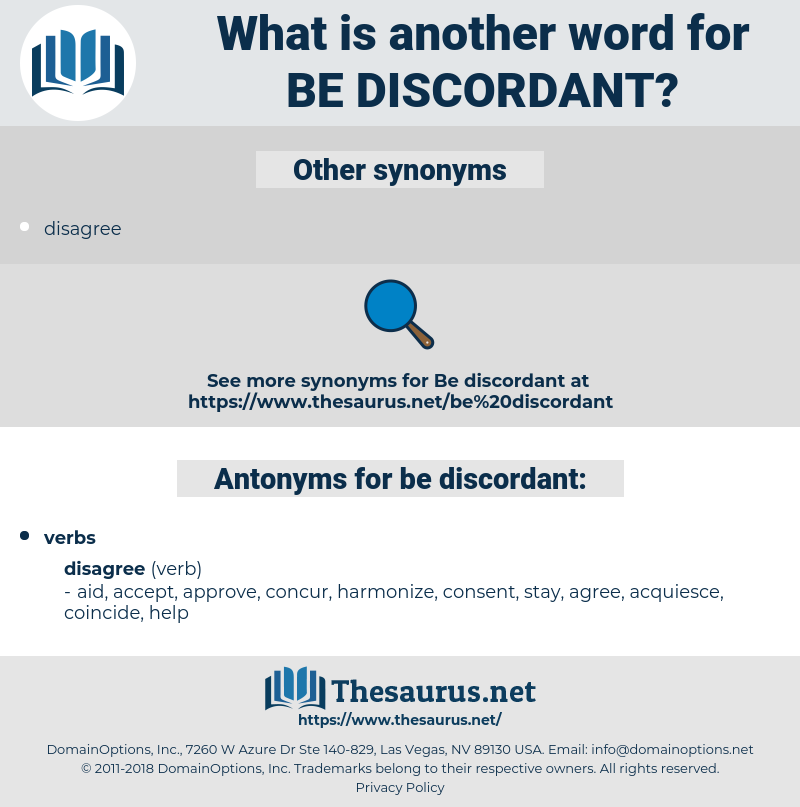 be discordant, synonym be discordant, another word for be discordant, words like be discordant, thesaurus be discordant