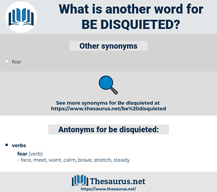 be disquieted, synonym be disquieted, another word for be disquieted, words like be disquieted, thesaurus be disquieted