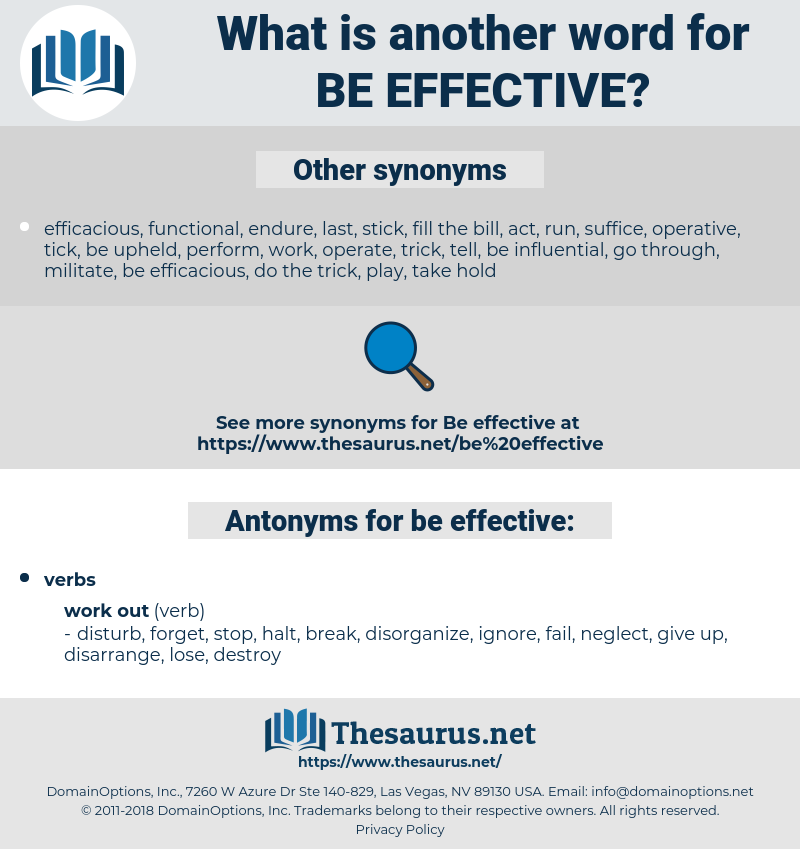 be effective, synonym be effective, another word for be effective, words like be effective, thesaurus be effective