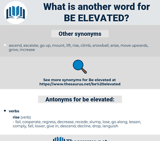 be elevated, synonym be elevated, another word for be elevated, words like be elevated, thesaurus be elevated