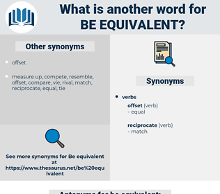 be equivalent, synonym be equivalent, another word for be equivalent, words like be equivalent, thesaurus be equivalent