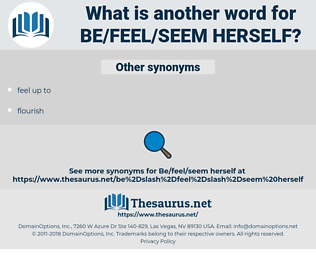 be/feel/seem herself, synonym be/feel/seem herself, another word for be/feel/seem herself, words like be/feel/seem herself, thesaurus be/feel/seem herself
