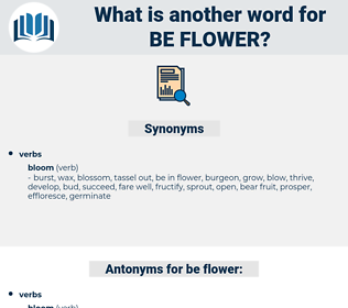 be flower, synonym be flower, another word for be flower, words like be flower, thesaurus be flower