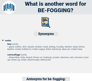 be-fogging, synonym be-fogging, another word for be-fogging, words like be-fogging, thesaurus be-fogging