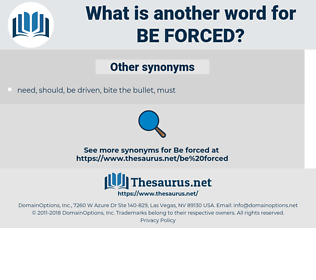 be forced, synonym be forced, another word for be forced, words like be forced, thesaurus be forced