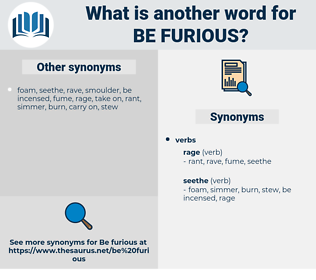 be furious, synonym be furious, another word for be furious, words like be furious, thesaurus be furious