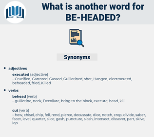 be-headed, synonym be-headed, another word for be-headed, words like be-headed, thesaurus be-headed