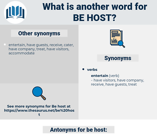 be host, synonym be host, another word for be host, words like be host, thesaurus be host