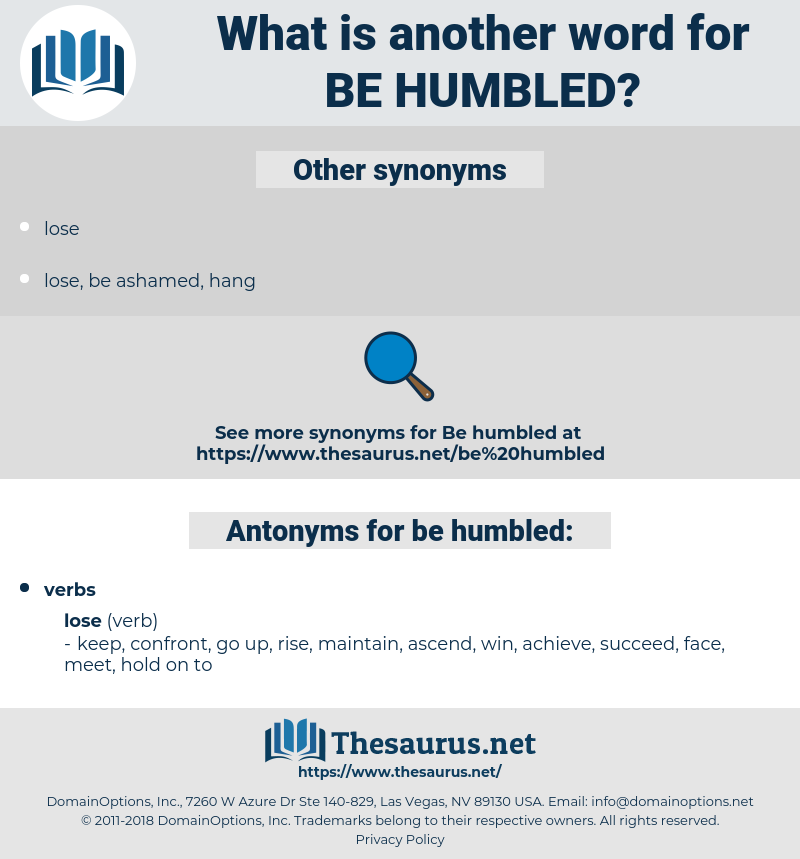 be humbled, synonym be humbled, another word for be humbled, words like be humbled, thesaurus be humbled