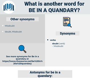 be in a quandary, synonym be in a quandary, another word for be in a quandary, words like be in a quandary, thesaurus be in a quandary