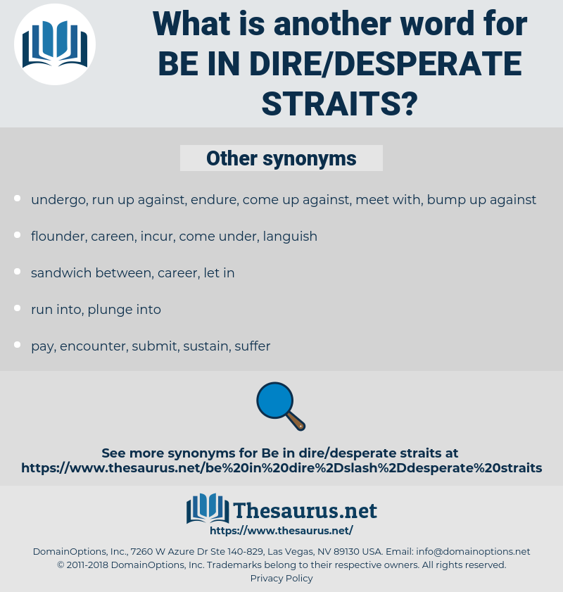 be in dire/desperate straits, synonym be in dire/desperate straits, another word for be in dire/desperate straits, words like be in dire/desperate straits, thesaurus be in dire/desperate straits