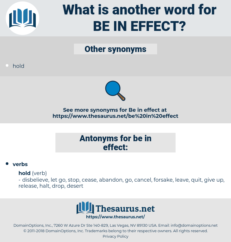 be in effect, synonym be in effect, another word for be in effect, words like be in effect, thesaurus be in effect