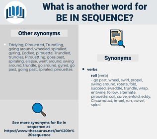 be in sequence, synonym be in sequence, another word for be in sequence, words like be in sequence, thesaurus be in sequence