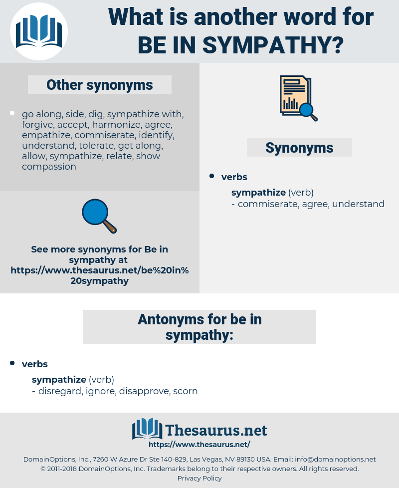 be in sympathy, synonym be in sympathy, another word for be in sympathy, words like be in sympathy, thesaurus be in sympathy
