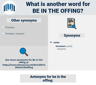 be in the offing, synonym be in the offing, another word for be in the offing, words like be in the offing, thesaurus be in the offing