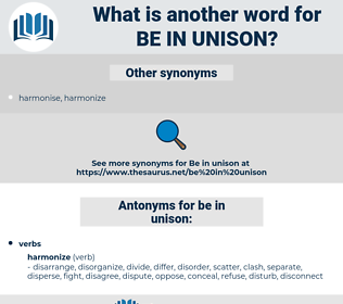 be in unison, synonym be in unison, another word for be in unison, words like be in unison, thesaurus be in unison