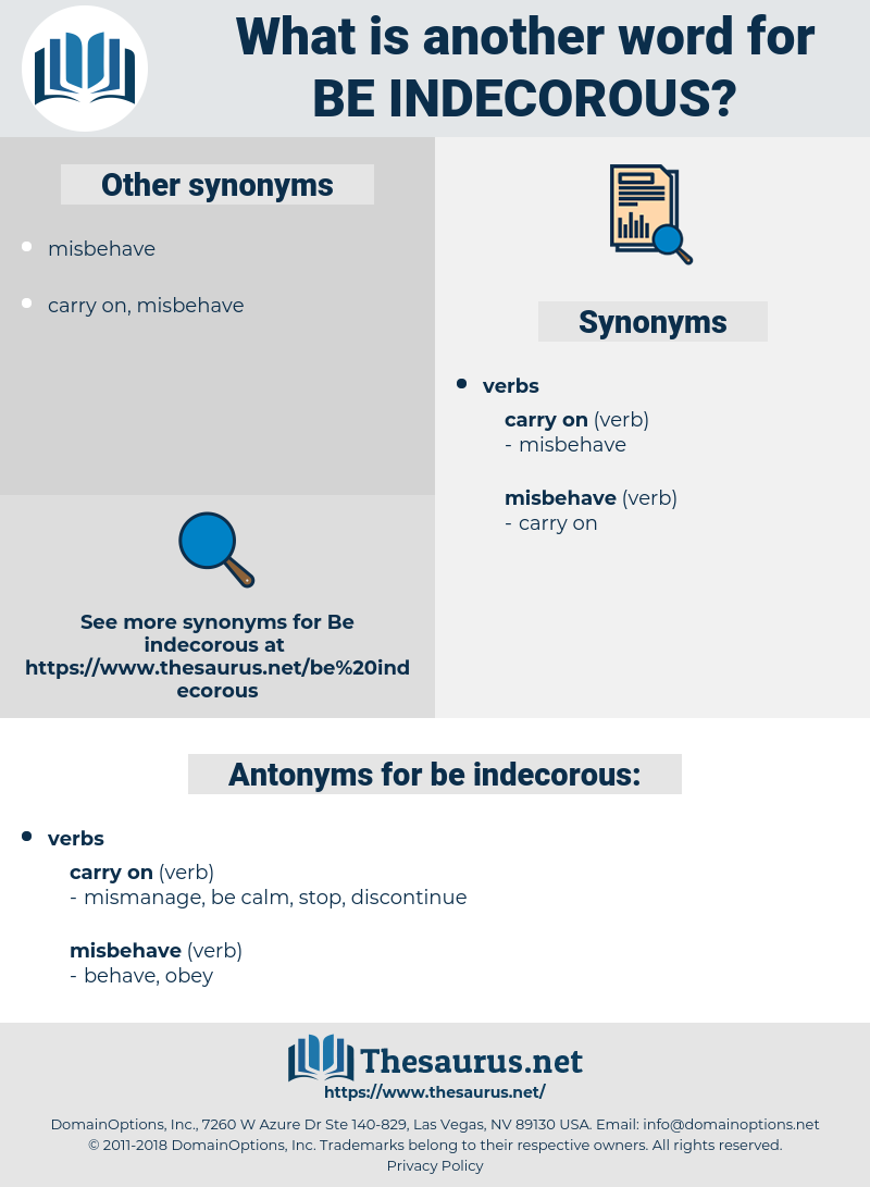 be indecorous, synonym be indecorous, another word for be indecorous, words like be indecorous, thesaurus be indecorous