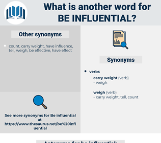 be influential, synonym be influential, another word for be influential, words like be influential, thesaurus be influential