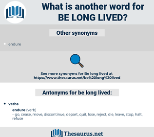 be long lived, synonym be long lived, another word for be long lived, words like be long lived, thesaurus be long lived