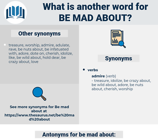 be mad about, synonym be mad about, another word for be mad about, words like be mad about, thesaurus be mad about