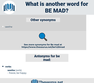 be mad, synonym be mad, another word for be mad, words like be mad, thesaurus be mad