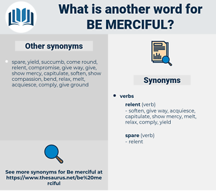 be merciful, synonym be merciful, another word for be merciful, words like be merciful, thesaurus be merciful