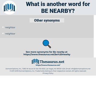 be nearby, synonym be nearby, another word for be nearby, words like be nearby, thesaurus be nearby