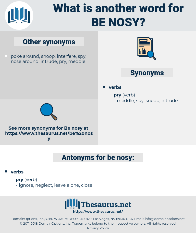 be nosy, synonym be nosy, another word for be nosy, words like be nosy, thesaurus be nosy