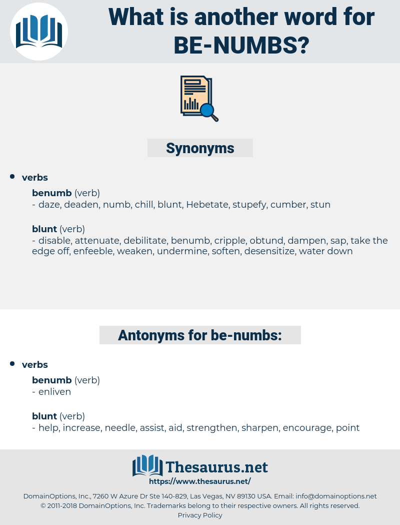 be numbs, synonym be numbs, another word for be numbs, words like be numbs, thesaurus be numbs