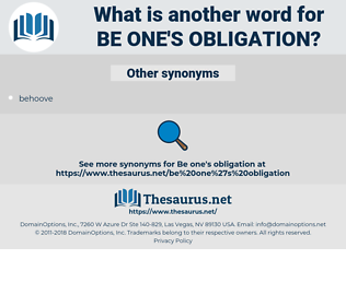 be one's obligation, synonym be one's obligation, another word for be one's obligation, words like be one's obligation, thesaurus be one's obligation