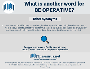 be operative, synonym be operative, another word for be operative, words like be operative, thesaurus be operative