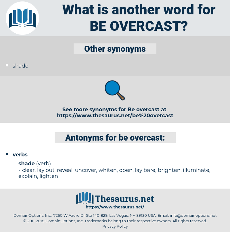 be overcast, synonym be overcast, another word for be overcast, words like be overcast, thesaurus be overcast