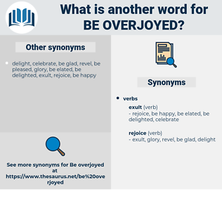 be overjoyed, synonym be overjoyed, another word for be overjoyed, words like be overjoyed, thesaurus be overjoyed