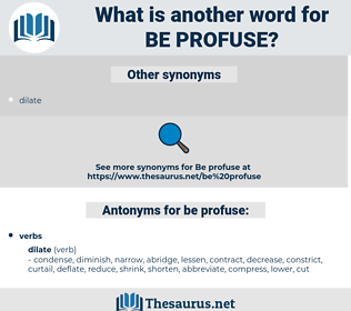 be profuse, synonym be profuse, another word for be profuse, words like be profuse, thesaurus be profuse