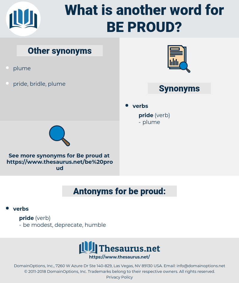 be proud, synonym be proud, another word for be proud, words like be proud, thesaurus be proud