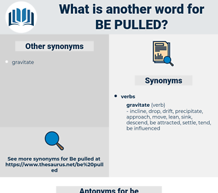 be pulled, synonym be pulled, another word for be pulled, words like be pulled, thesaurus be pulled