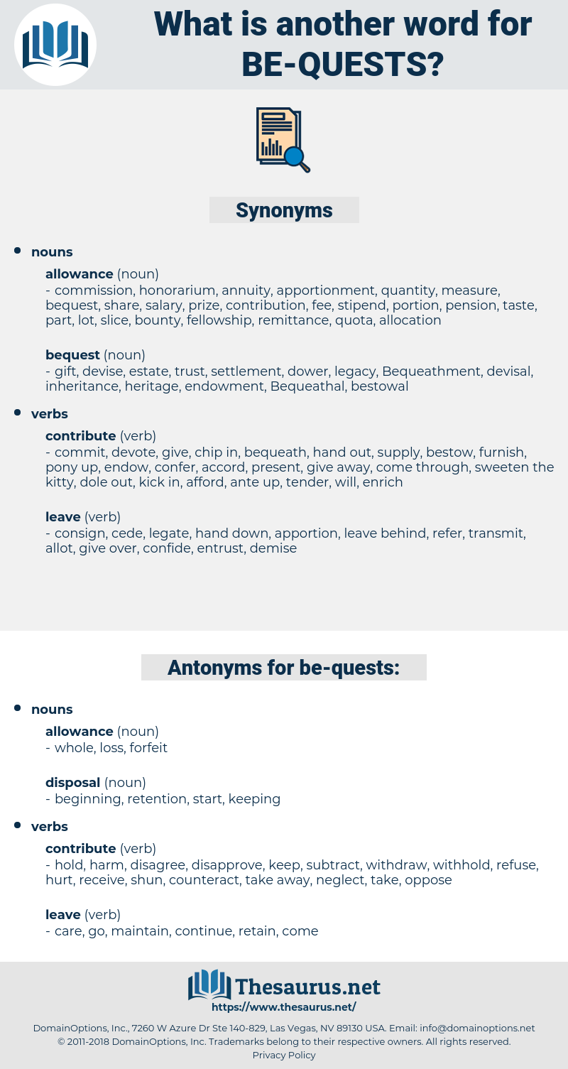 be-quests, synonym be-quests, another word for be-quests, words like be-quests, thesaurus be-quests