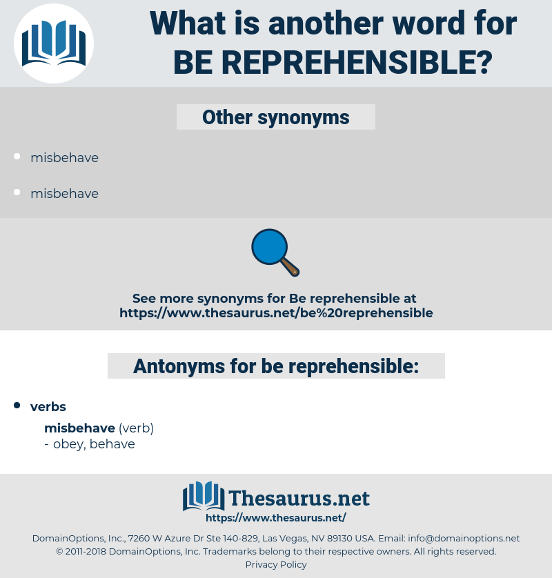 be reprehensible, synonym be reprehensible, another word for be reprehensible, words like be reprehensible, thesaurus be reprehensible