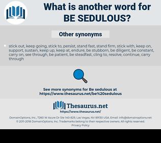 be sedulous, synonym be sedulous, another word for be sedulous, words like be sedulous, thesaurus be sedulous